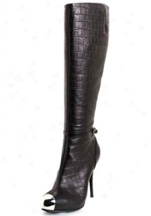 Giuseppe Zanotti Black Crocodile Print Leather Boots I98098-black-36