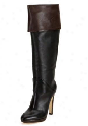 Giuseppe Zanotti Black Leather Boots 156019-blkbrw-41