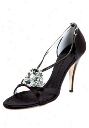 Giuseppe Zanotti Black Satin Embellished High Heel Sandals I50458-black-38