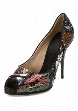 Giuseppe Zanotti Multicolor Sequjn Detailed Pumps I86005-brown-40