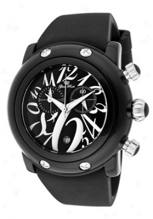 Glam Rock Miami Beach Chronograph Black Dial Black Polyurethane Gk1143