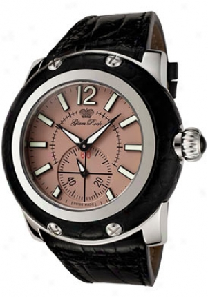 Glam Rock Miami Light Brown Dial Black Alligator Grd10009ab
