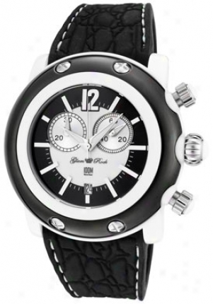 Glam Rock Women's Miami Beach Chronograph White/black Dial Black Silicon Gk11111