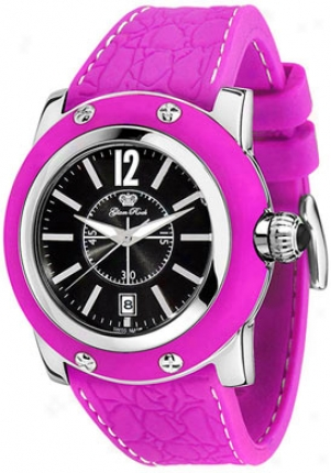 Glam Rock Women's Miami Black Dial Purple Silicon Gr30019ppf