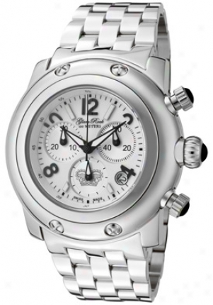 Glam Rock Women's Miami Chronograph White Dial Stainless Steel Gk1114-ss