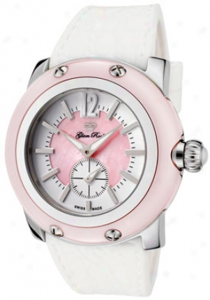 Glam Rock Women's Miami Pink Mother Of Pearl/white Dial Of a ~ color Silicon Grd30010