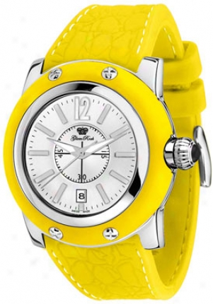 Glam Rock Women's Moami Silver Dial Yellow Silicon Gr30022yyf