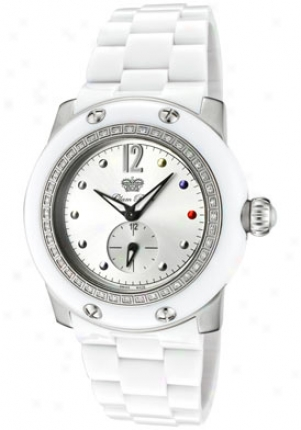 Glam Rock Women's Miam White Diamond (0.56 Ctw) Silver Dial White Compounded Grd10701bv