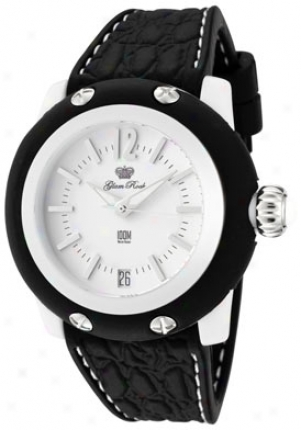Glam Rock Women's Miss Miami Beach White Dial Black Silicon Gr23007