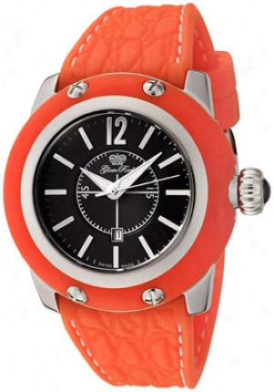 Glam Rock Women's Palm Beach Black Dial Orange Silicon Gr40307oof