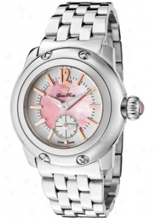 Glam Rock Women's Palm Beach Pink Mop Dial Stainless Steel Gk4001