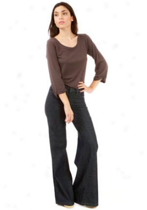 Goldsign Dark Blue Orchid Wide Leg Denim Trousers Je-11461451-25