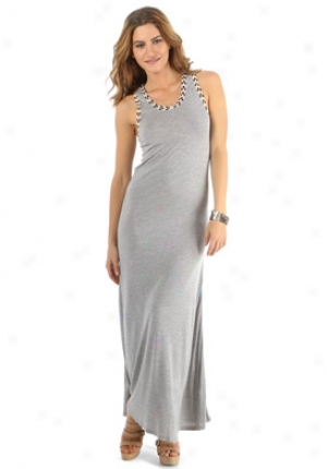 Gryphon Grey Long Dress Dr-e11jr441-vrey-m