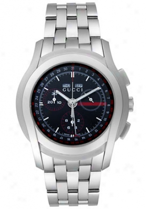 Gucci Men's 5505 Xl Chronograph Stainless Steel Ya055206
