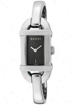Gucci Women's Grey Dial Stainless Steel Gu3150