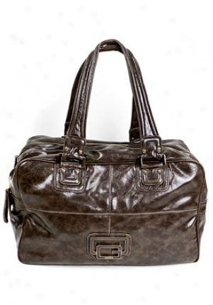 Guess Allouette Brown Leatherette Large Shoulder Bag Vy214990/bro
