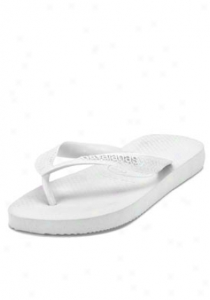 Havaianas White Rubber Flip Flop Sandals White-4/5