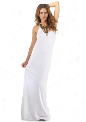 Helmut Lang White Racer Back Maxi Dress Dr-b03hw633-wh-l