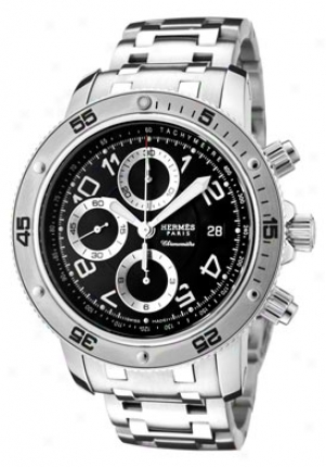 Hermes Men's Clipper Automatic Chronograph Stainless Steel Cp2-910-330-3815