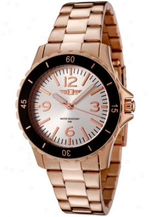 I By Inicta Women's Rose Gold Tone Stainless Steel 89051-0O7