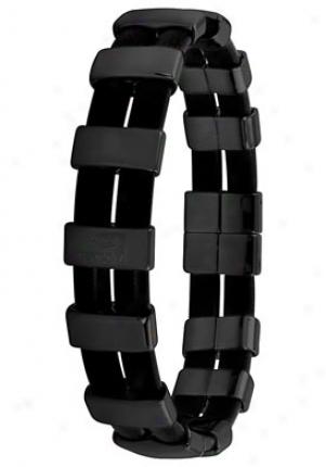 Invicta Jewels Black Rubber And Black Ip Stainless Steel Bracelet J5957