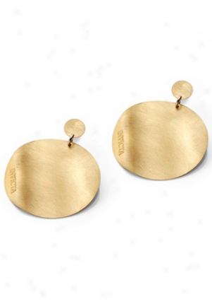 Invicta Jewelry Gold Plated Round Earrings J0185