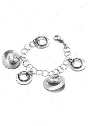 Invicta Jewelry Women's Grazia Silver 925 Charmed Bracelet J0021