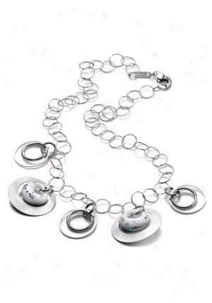 Invicta Jewelry Women's Grazia Silver 924 Charmed Necklace J0022