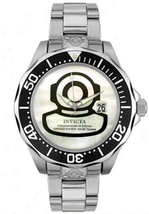 Invicta Men's Automatic Grand Diver Watch Stainless Steel 3196