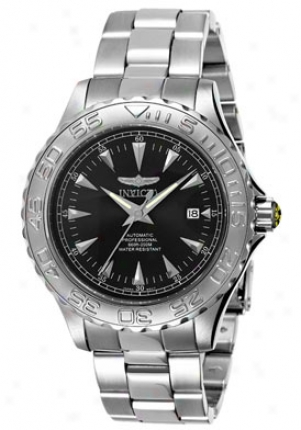 Invicta Men's Automatic Ocean Ghostt Stainless Steel Black Dial 2300
