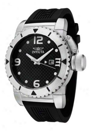 Invicta Men's Invicta Ii Black Carbon Fiber Dial Black Polyurethane 1431