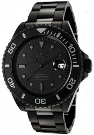 Invicta Men's Pro Diver Automatic Black Dial Black Ion Plated F0068