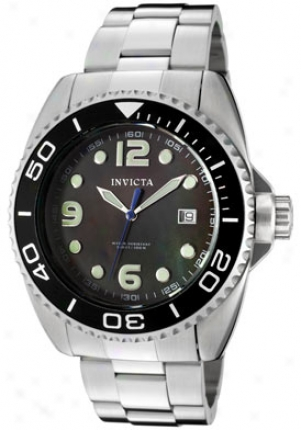 Invicta Men's Pro Diver Black Chief Of Pearl Dial Stainless Steel 0480