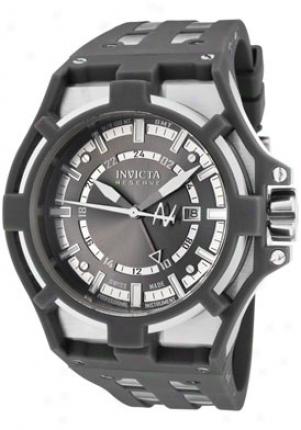 Invicta Men's Reserve Akula Gmt Grey Dial Grey Polyurethane 0625
