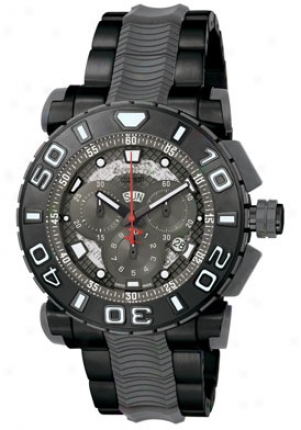 Ivnicta Men's Reserve Chronograph Black Stainless Steel/gray Polyurethane 6315