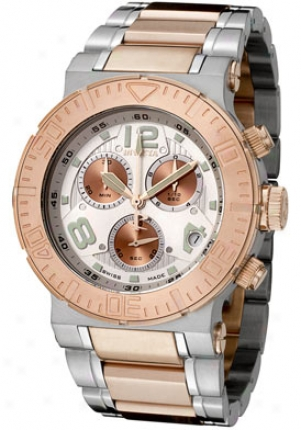Invicta Men's Reserve Silver Dial Stainless Steel & 18k Rose Gold Plated 6755