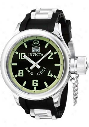 Invicta Men's Russian Diver Black Rubber 4342