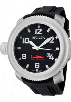Invicta Men's Russian Diver/sea Hunter Black Dial Black Polyrethane 1544