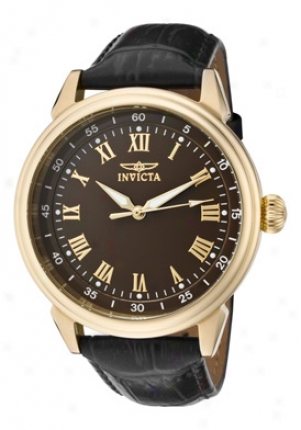 Invicta Men's Specialty Dismal Dial Blacck Leather 11391