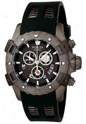 Invicta Men's Specialty Chronograph Black Polyurethane 6327