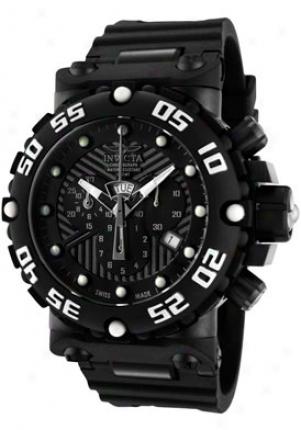 Invicta Men's Subaqua Chronograph Black Steel Black Polyurethane 0656