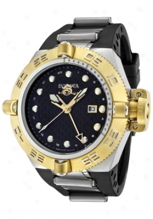 Invicta Men's Subaqua Gmt Murky Dial Black Rubber 1157