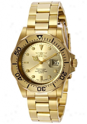 Invicta Men's Swiss Pro iDver 18k Yellow Gold Plated 2155