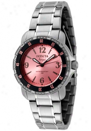 Invicta Women's Angel Pink Dial Stainless Steel 0547