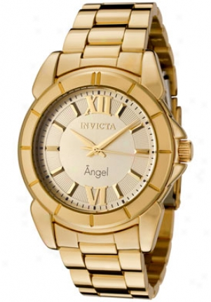 Invicta Women's Angel Silver Dial 18k Gold Plated 0459