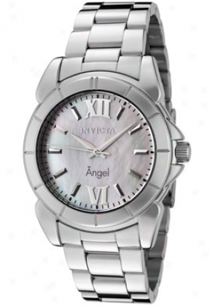 Invicta Women's Spirit White Mother Of Pearl Dial Stainless Steel 0458