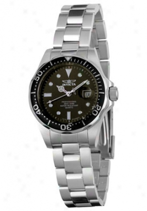 Invicta Women's Pro Diver Black Dial Stainless Steel 4862