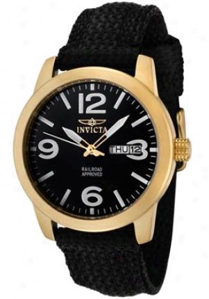 Invicta Women's Specialty Black Dial Black Nylon 1051