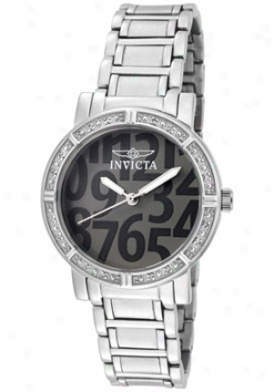 Invicta Women's Wildflower White Diamond Grey Dial Stainless Steel 10676