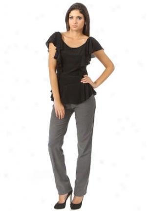 Isabel Lu Black Sleeveless Silk Chiffon Blouse Wtp-ss20110-blk-p